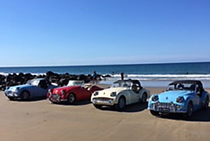 Photo of TR3s at the beach in Australia