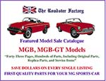 graphic for MGB Featured model sale catalog