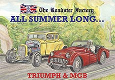 graphic of Summer Sale Catalog for Triumph and MGB parts