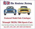 Graphic for TR250 and TR6 sale catalog