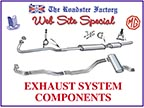 graphic for exhaust systems on sale for Triumphs and MGB