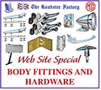 graphic for body hardware and fittings on sale for Triumphs and MGB sports cars