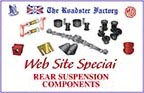 graphic for rear suspension components on sale for Triumph and MGB