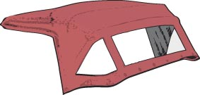 graphic for convertible tops on sale for TR2 and TR3 models