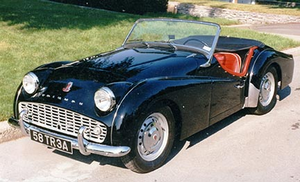 "Photo of Don Elliot's TR3A named ""TRusty"""